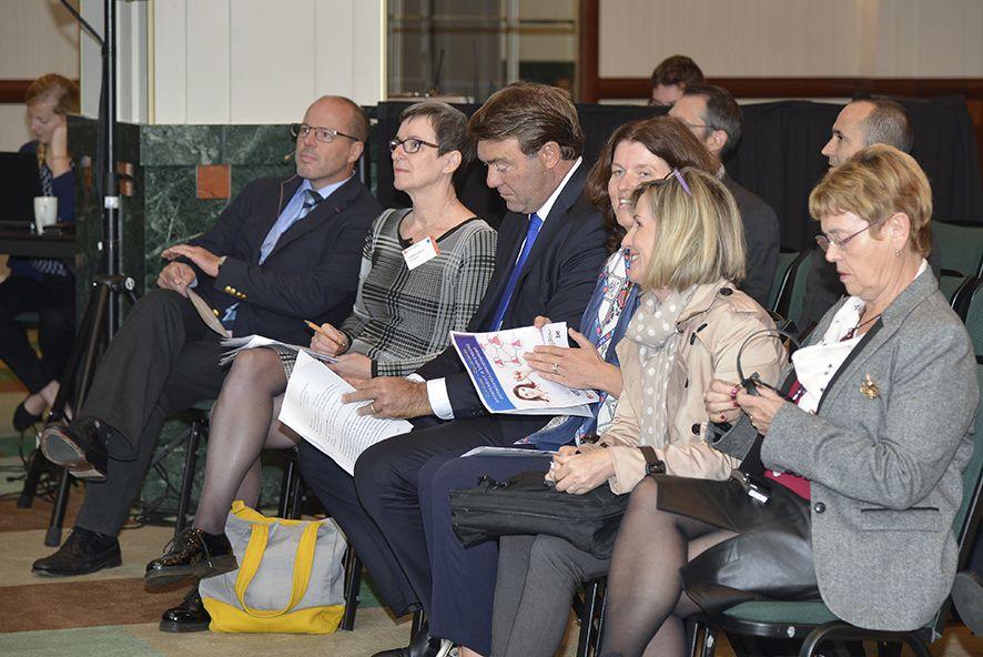 La délégation FNGE pendant le colloque en octobre 2017