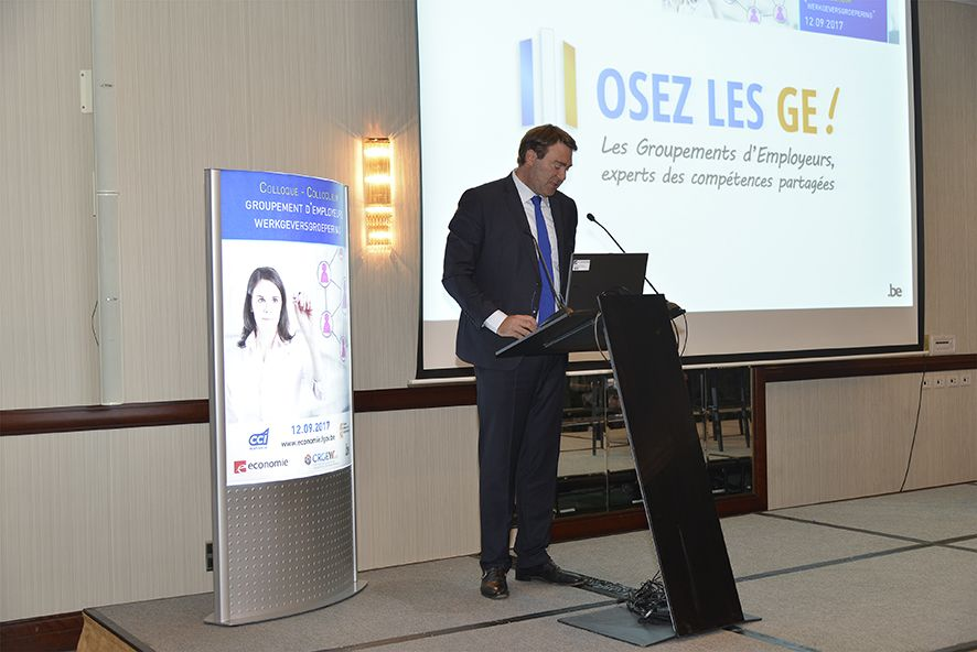 Le ministre Denis Ducarme pendant le colloque en octobre 2017